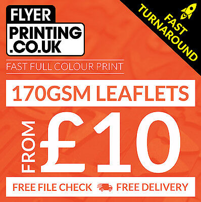 £18 • Buy Leaflets / Flyers Printed On 170gsm Silk ~ FROM £10 ~ A6 / DL / A5 / A4 / A3