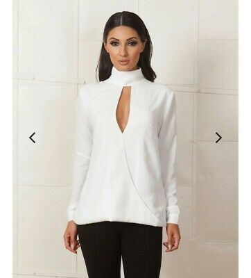 AU48 • Buy Finders Keepers The Light White Top White Blouse Size XS