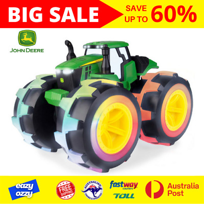 AU54.99 • Buy John Deere Monster Treads Tractor New Wheels 3+ Kids Sounds Toy Ages Truck Toys