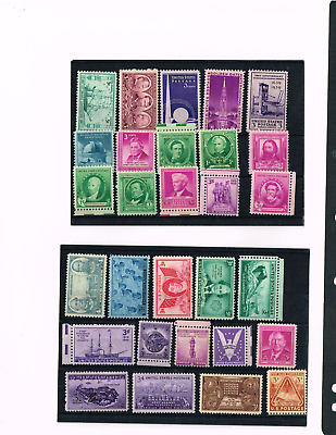 AU9.99 • Buy  Usa Selection Of 1930-1940's Stamps-most Muh ,some Toning & Some Mh-80+ Stamps