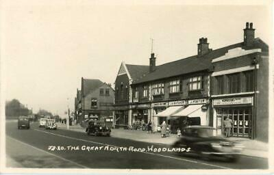 £12 • Buy Real Photo Postcard Of The Great North Road, Woodlands, West Yorkshire By Arjay