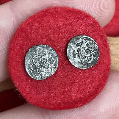 £6.52 • Buy Charles I, 1625-49. Small Hammered Silver Halfpennies. Rose Types. (2 Coins)