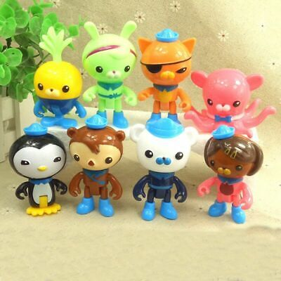 £4.99 • Buy 8 Pcs Set The Octonauts Figures Octo Crew Pack Playset Action Figure Doll Toy UK