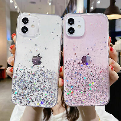 AU6.99 • Buy Glitter Case For IPhone 13 12 11 Pro Max X XR 8 7 Bling Shockproof Clear Cover
