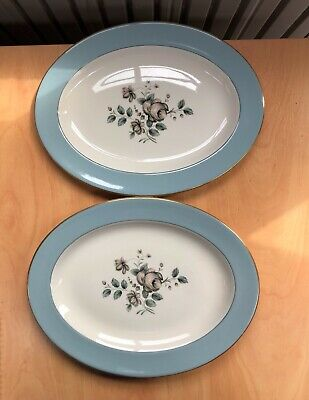 £10.49 • Buy 2 X Royal Doulton Fine China Rose Elegans (tc1010) Oval Serving Platters 13.25in