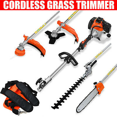 £135.99 • Buy 5 In 1 52cc Petrol Hedge Trimmer Chainsaw Brush Cutter Pole Saw Outdoor Tools