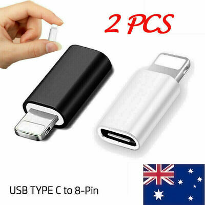 AU6.78 • Buy 2x USB-C Type C To Adapter Data Sync Connector Fits For IPhone IPad Mac