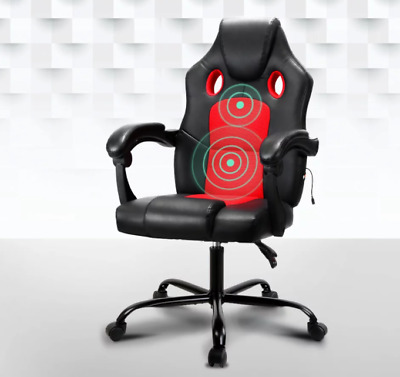 AU109 • Buy Artiss Massage Office Chair Gaming Computer Seat Recliner Racer Red