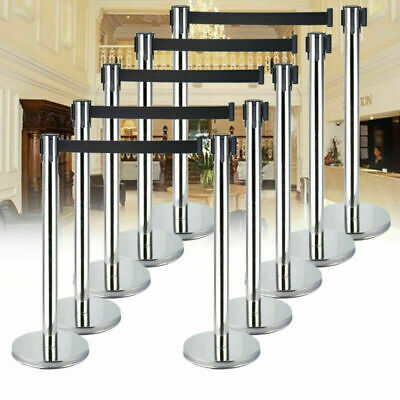 £103.69 • Buy 10PC Queue Barriers Security Posts Crowd Control Stanchions With Belt Exhibition