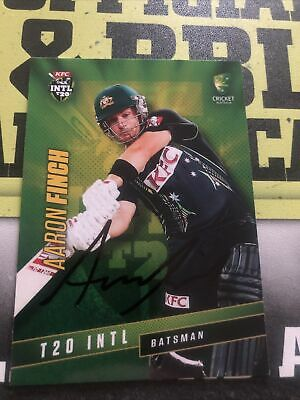 AU0.99 • Buy Aaron Finch Signed Tap N Play 2015/16 T20 Card
