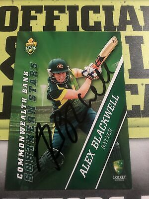 AU0.99 • Buy Alex Blackwell Signed Tap N Play 2015/16 Southern Stars Card
