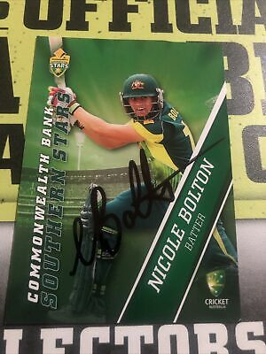AU0.99 • Buy Nicole Bolton Signed Tap N Play 2015/16 Southern Stars Card