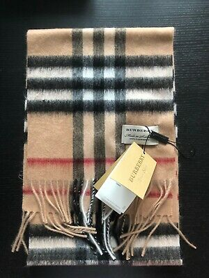 £90.95 • Buy Brand New Burberry 100 % Cashmere Scarf  FOR KIDS Camel  Check