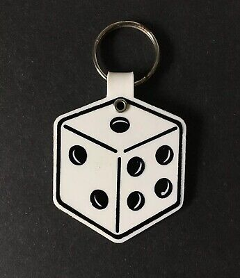 $12.95 • Buy Vintage Keychain TAG-MASTER SALES CONTEST Key Ring Dice 🎲 Shaped Fob 7 Come 11