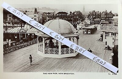 £10 • Buy The New Pier, New Brighton, Wirral. Real Photographic Postcard.