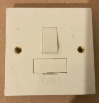 £3 • Buy Click PRW051 Double Pole Switched Fused  Switch- No Packet Or Screws