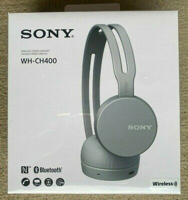 AU43.04 • Buy Sony WH-CH400 Wireless Stereo Bluetooth On-Ear Headphones Gray Sealed NEW