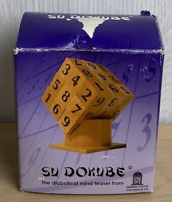 £6 • Buy SU DOKUBE Sudoku. Mind Teaser Game. 27 Cubes On Stand. Boxed Fun Maths Game