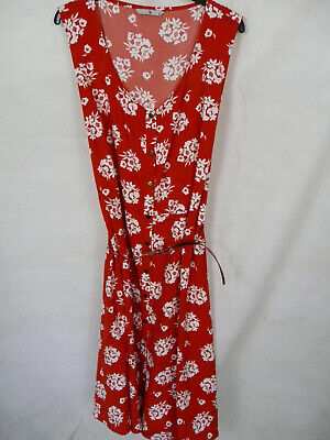 £2.99 • Buy Womens/ladies Red White Floral Button Front Midi Dress By Tu Size 22