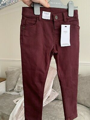 £10 • Buy 2 X Kids Chinos M&S Size 3-4 Years Tan And Burgandy Colour Trousers Smart