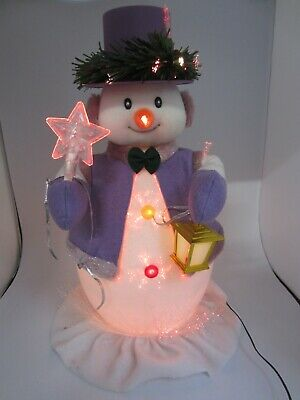 £30 • Buy Fibre Optic Snowman Animated Christmas Decoration Large 20  - Working