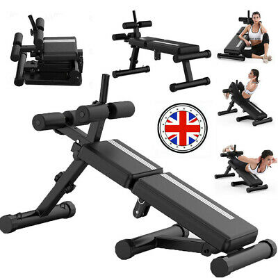 £26.99 • Buy Comfort Sit Up Bench Abdominal Fitness Home Gym AB Workout Exercise Equipment GB