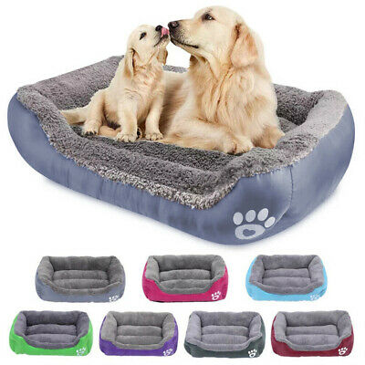 £9.99 • Buy Pet Dog Cat Bed Mat Puppy Cushion Soft Warm House Kennel Mat Blanket Washable UK