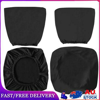 AU13.19 • Buy Spandex Stretch Computer Chair Cover Home Office Chairs Seat Case (Black)