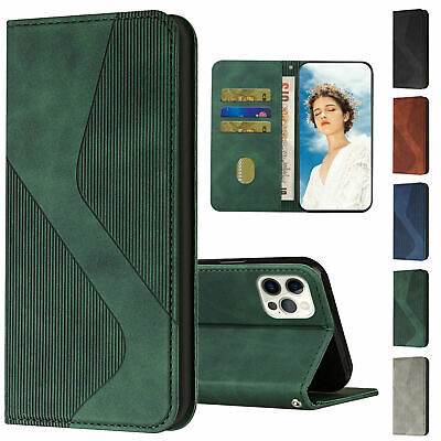 AU7.40 • Buy Leather Flip Card Wallet Phone Case For IPhone 11 12 Pro Max XR XS X 6 7 8 SE