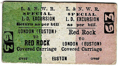 £2.50 • Buy Railway Ticket: London & N. Western Rly: Covered Carriage: Red Rock To Euston