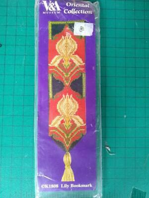 £5 • Buy V & A Oriental Collection Lily Bookmark  DMC Counted Cross Stitch Kit