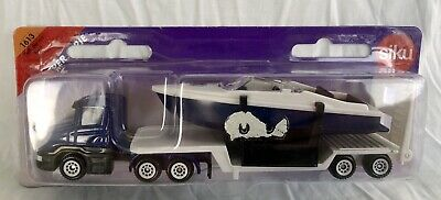 £12.99 • Buy Siku Super Serie 1613 Low Loader Lorry With Boat Diecast New Vintage