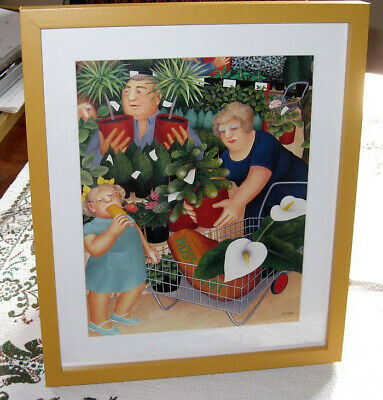 £14 • Buy  Beryl Cook – Garden Centre – Signed Mounted New Framed Print – Glass Fronted