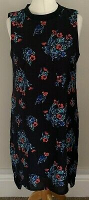 £8 • Buy Papaya Size 12 Ladies Black High Low Dress With Multicoloured Floral Print