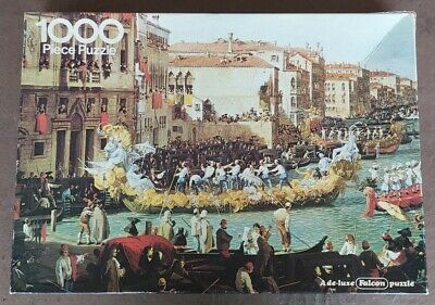 £5 • Buy JIGSAW Falcon Gallery 1000 Piece Puzzle CARNIVAL By CANALETTO Checked COMPLETE