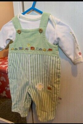 £3.99 • Buy Humphrey's Corner / Mothercare Cotton Dungaree Set.  New Baby (up To 10lbs)
