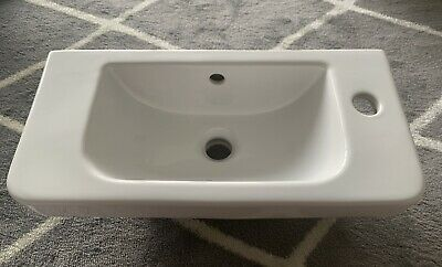 £5 • Buy Counter Top Ceramic White Basin Gloss White Wash Sink. Perfect Condition