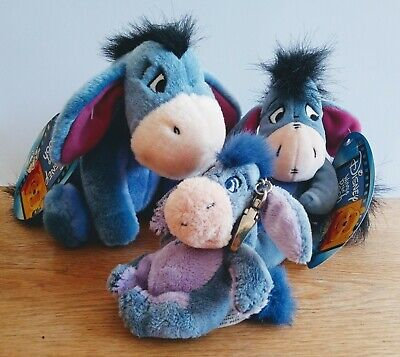 £11.50 • Buy Disney, Collection Of 3 Eeyore Soft Toys, Excellent Condition