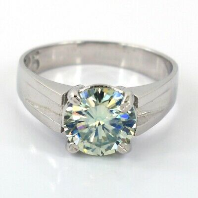 AU136.87 • Buy Certified 2.20Ct Off White With Tinge Of Blue Diamond Solitaire Ring WATCH VIDEO