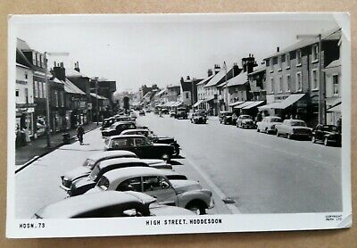 £2.30 • Buy Posted 1964...High Street, Hoddesdon Postcard (lots Of Old Cars In Street)