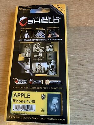 £2.25 • Buy Apple IPhone 4 / 4S - ZAGG - Invisible Shield - Protective Film