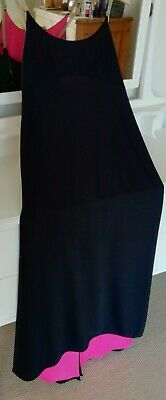 £0.99 • Buy Vintage AFTER SIX By Ronald Joyce Metal Strap Tails Pink Lined, Black Dress 12
