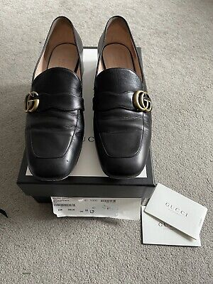 AU370.89 • Buy Gucci Leather Marmont Loafer In Black - EU 41 RRP£590