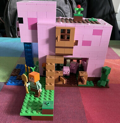 £25 • Buy LEGO 21170 Minecraft The Pig House Building Set With Alex And Creeper Figure