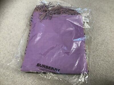 £90 • Buy Burberry - Colour Block Vintage Check Cashmere Scarf - BNWT Bright Lilac