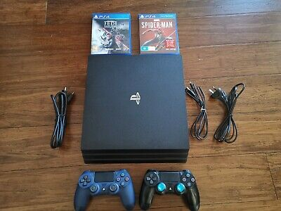 AU380 • Buy Ps4 Pro Console 1TB 7202B Excellent Condition Two Controllers Like New Two Games