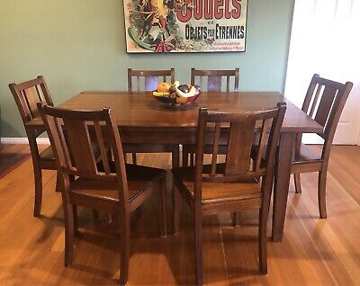 AU3750 • Buy Stunning Nicholas Dattner Hand Built Dining Table With Six Chairs