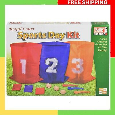 £7.39 • Buy The Magic Toy Shop 3 In 1 Sports Day Kit Sack Race Egg And Spoon Race Set Bean