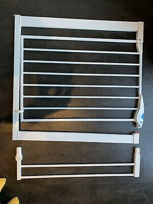 £15.50 • Buy Lindam Easy Fit Gate-76-82cm 2 Way Opening White Plus 13cm Extension