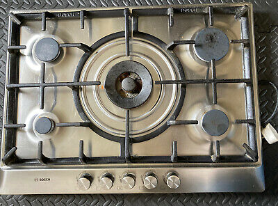 £16.90 • Buy Used Bosch 70cm Stainless Steel Gas Hob With Wok Burner